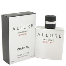 Chanel Allure Homme Sport 3.4 Oz Eau De Toilette Cologne Spray  image 5