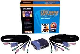 Cisco-Linksys PS2KVMSK ProConnect 2-Port Compact KVM Switch Kit - $19.80