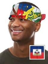 Haiti Flag Bandanna Haiti Flag Bandana Haiti Headband Clothing Haitian B... - $13.68