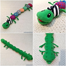 Lamaze Learning Curve Inchworm Plush Green Caterpillar Inch Worm - $9.90
