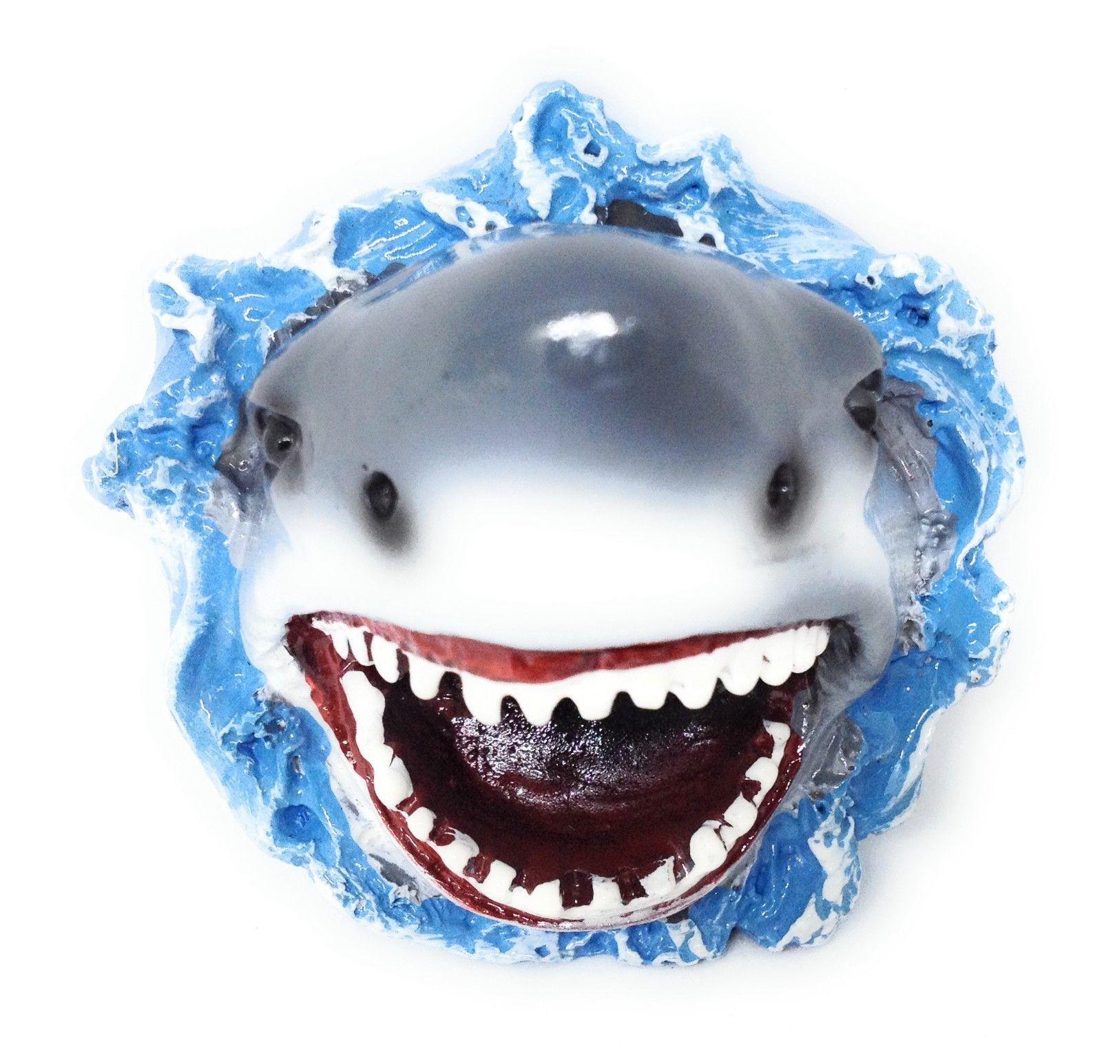 Cool 3d Shark Attaque Mâchoires Réfrigérateur AIMANT Lourd Plage Mer Cuisine