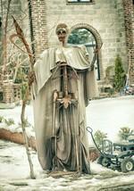 Massive Halloween Sculpture Grim Reaper 9 feet tall Metal Decor Decorati... - $204.873,39 MXN