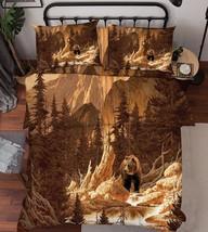 3D Mountain Bear Bed Pillowcases Quilt Duvet Cover Set Single Queen King Size AU - $64.32+