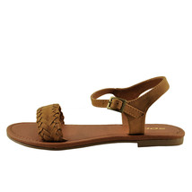 Soda Jazzy Tan Women's Open Toe Braided Sandals - $18.95+