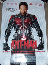 """ANT MAN"" MOVIE BLURAY/DVD PROMO POSTER MARVEL - $9.50"