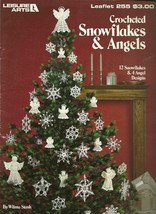Leisure Arts 255 Crocheted Snowflakes and Angels Christmas Ornaments - $9.99