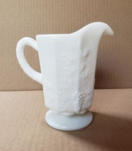 Westmoreland milk glass footed tall creamer line 1881, Paneled grapes pattern - $19.99