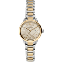 Burberry BU10118 Women's  Classic Round Two Tone Yellow Gold 32mm - $399.00