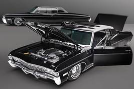 1968 Chevrolet Impala SS - Black on Black | 24 X 36 inch poster  - $18.99