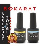 Set of Gel Foundation Base Coat + Top Gel Coat Soak Off  UV /LED Bokarat  - $14.49