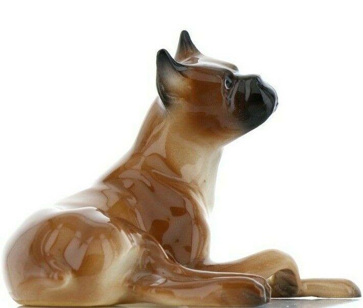 Hagen Renaker Pedigree Dog Boxer Ceramic Figurine