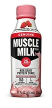 Muscle Milk Genuine Protein Shake, Strawberries 'N Crème, 25g Protein, 14 FL OZ,