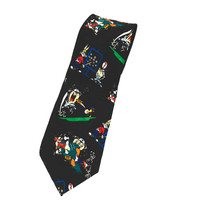 Looney Tunes Mania Taz Bugs Bunny Silk Necktie Tie - $10.88