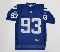 REEBOK NFL Logo Athletic Indianapolis Colts #93 Dwight Freeney Blue Jers... - $464,98 MXN