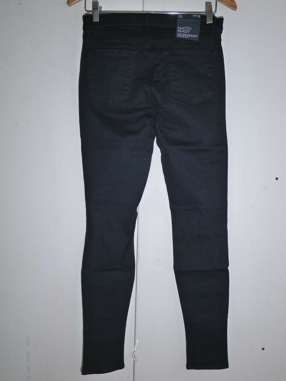 $198 NEW J Brand Maria - High Rise Skinny in Black Heart Destroyed - Size 29 image 3