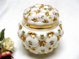 3502 Antique Charleton Consolidated Tufted Pillow Biscuit Jar - $125.00