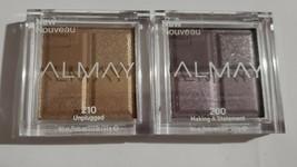 Lot 2 ALMAY Eyeshadow Quad #200 Making A Statement & 210 Unplugged - $9.74