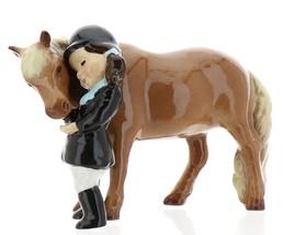Hagen-Renaker Specialties Ceramic Horse Figurine Little Girl and Shetland Pony image 7
