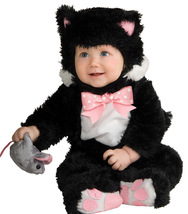 Black Cat Infant / Toddler's Halloween Costume 12-18 Months - Free Shipping - $35.00