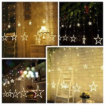Christmas Led Star Curtain String Lights 110V 3M(W)x2M(H) 12 Stars 138 LEDs - $44.57