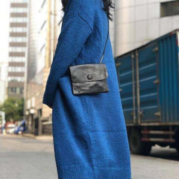 On Sale, Handmade Crossbody Bag, Full Grain Leather Shoulder Bag, Women Clutch image 4