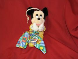 Disney Mickey Mouse Plush Applause Musical Crib Pull Toy Baby Nursery Decor - $22.17