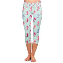 Little Mermaid Ariel Pattern - Disney Inspired Yoga Capri Leggings - $32.99+