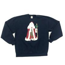 80s Jahre Jerzees Rundhals GRÖSSE L Santa Pullover Vintage Sweatshirt USA - $34.10
