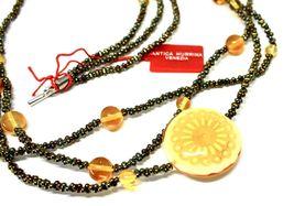 Necklace Antica Murrina Venezia with Glass of Murno Disc Beige & Gold CO724A10 image 4