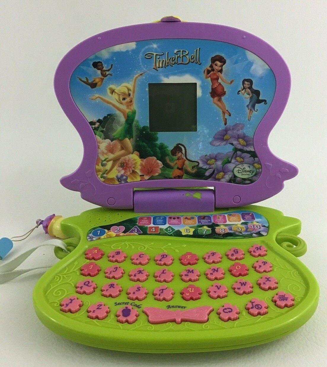 Disney Fairies Tinkerbell Laptop Computer Learning Pad Oregon Scientific Junior - $44.50