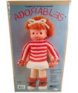 """VINTAGE ADORABLES 16"""" CROCHE DOLL KIT TERRY BY PAL, NATIONAL YARN CRAFTS - $9.97"""