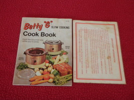 "Betty ""G"" Slow Cooking Cook Book Booklet SCC-70 SC-60 CF-53 - $13.98"