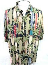 "REYN SPOONER vintage 1990s Men Hawaiian ALOHA shirt p2p 29"" 2XL camp lua... - $41.15"