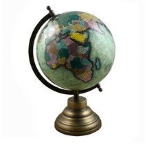 Globe World Map Antique Earth beautiful Table Decor Home Office Blue 12.... - $38.51