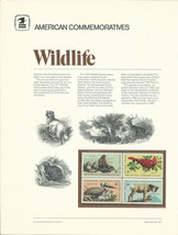 Official Wildlife USPS Commemorative Panel (CP1) - $4.30
