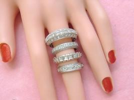 ANTIQUE .40ctw DIAMOND PLATINUM ETERNITY BAND RING 1940 UNIQUE size 9.5+... - $1,246.41