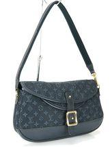 Authentic LOUIS VUITTON Marjorie Blue Monogram Mini Lin Shoulder Bag #34709 image 2