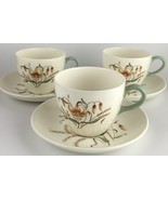 Wedgwood TIGER LILY (set of 3 ) cups & saucers (SKU EC 207) FREE SHIPPING - $30.00