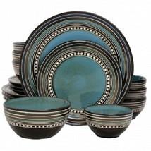Gibson Elite Café Versailles 16 Piece Double Bowl Dinnerware Set - Blue - $74.44