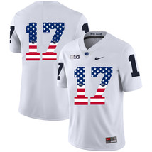 Men's Penn State Generations of Greatness 17 USA Flag Jersey, White - $61.09
