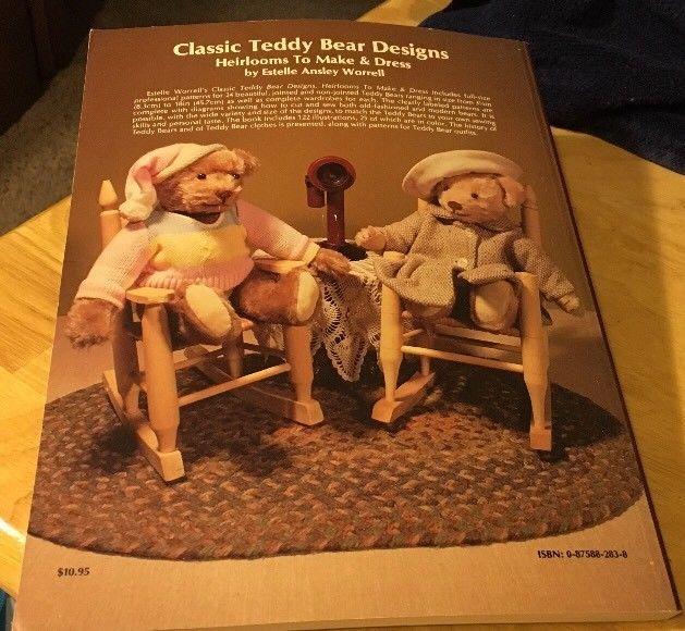 Classic Teddy Bear Designs by Worrell Pb 1988 image 2