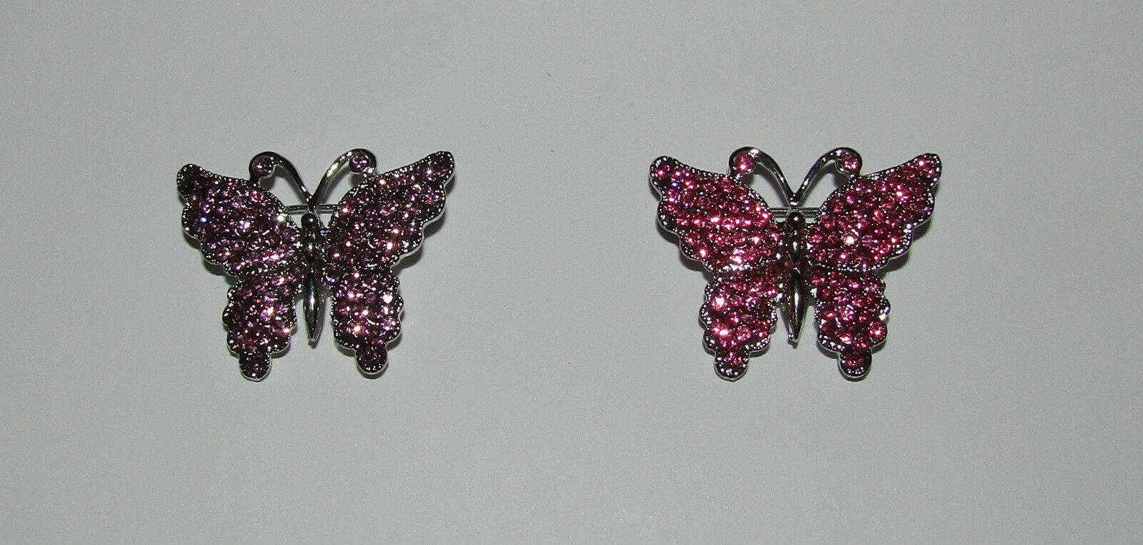 Primary image for Butterfly Pin Silver Tone New Crystal Accents Jewelry Butterflies Brooch