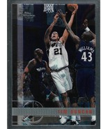 Tim Duncan Topps Chrome 97-98 #115 Rookie Card San Antonio Spurs - $165.00