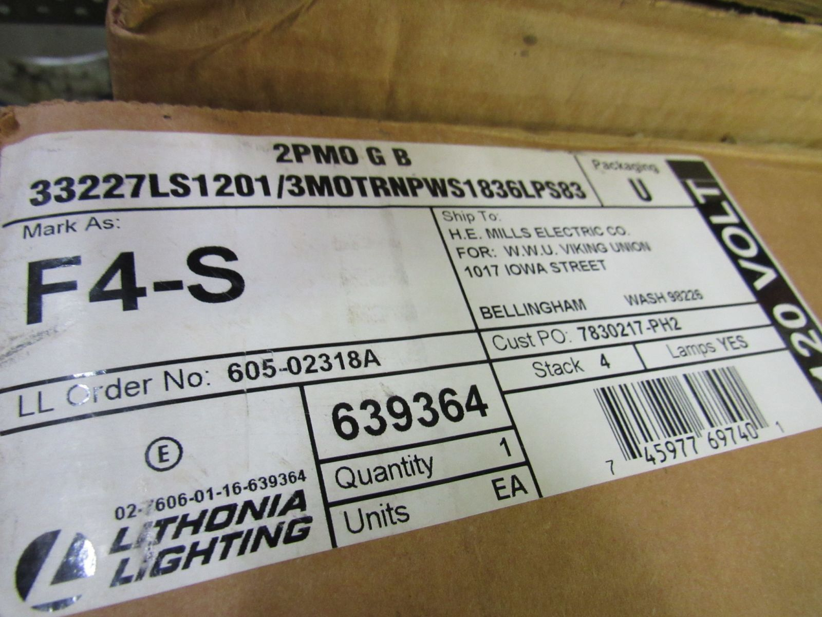48in Fluorescent Recessed Light Fixture 2PMO G B 33227LS1201/3MOTRNPWS1836LPS83