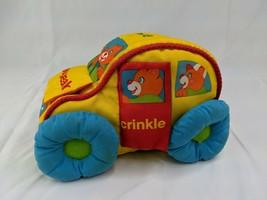 """Playskool Busy Soft Vehicle Colorful Car Peek Squeak Rattle Crinkle 9"""" 1988 Toy - $19.95"""