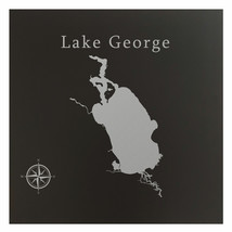 Lake George Map Wall Art Office Decor Gift Engraved Florida - $38.69+