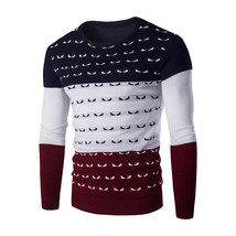 Winter Mens Pullover Sweaters High Quality Long Sleeve Patchwork Ugly Ou... - $30.22+