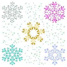 Snowflake Stencil - 8.5 x 8.5 inch (L) - Christmas Winter Large Reusable... - $19.79