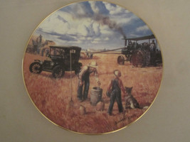 BOUNTIFUL HARVEST Collector Plate EMMETT KAYE Threshing FARMING THE HEAR... - $23.20
