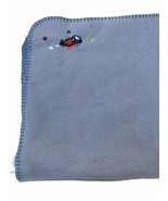 Parents Choice Blue Fleece Baby Blanket Airplane Stitched Edge Security ... - $29.69